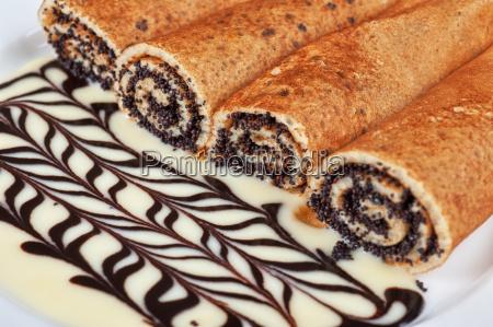 pfannkuchen, mit, mohnsamen - 9293090
