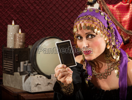 cute tarot card reader