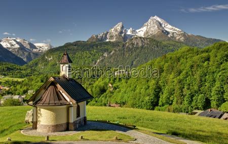 kirche wallfahrtskirche bayern berchtesgaden wallfahrt lockstein
