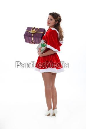 frau dame weiblich weihnachtszeit weibchen christmas
