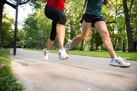 jogging par detaljer af benene