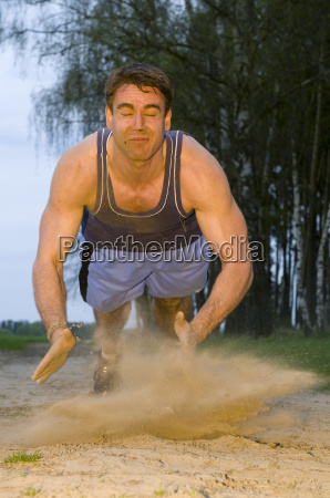 physical exertion in the dust