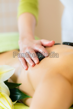 woman getting a massage at the