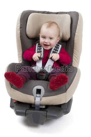 child in booster seat for a