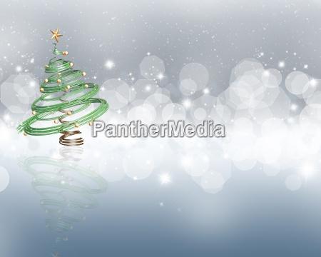 weihnachtsbaum auf einem sternenklaren lichthintergrund