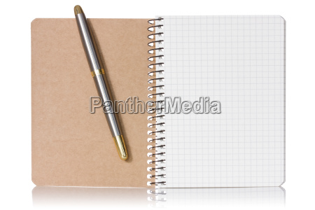 opened notebook and pen
