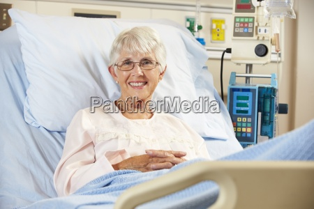portrait of senior female patient relaxing