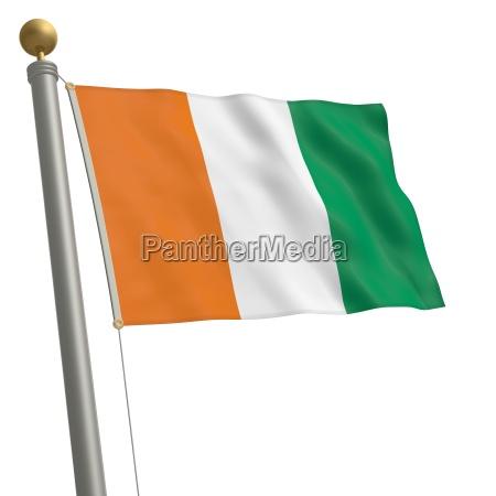 flagge von elfenbeinkueste