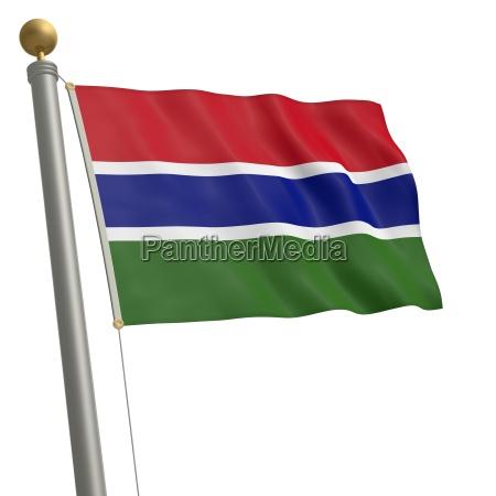flagge von gambia