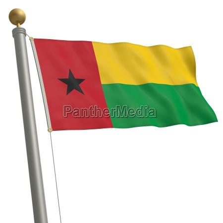 flagge von guinea bissau