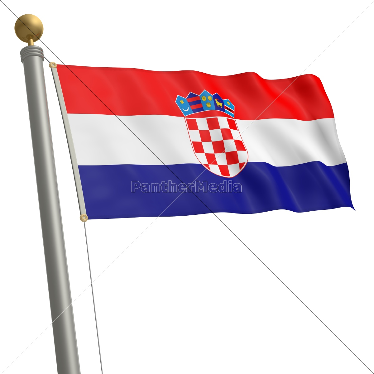 flagge von kroatien lizenzfreies foto 9341104. Black Bedroom Furniture Sets. Home Design Ideas