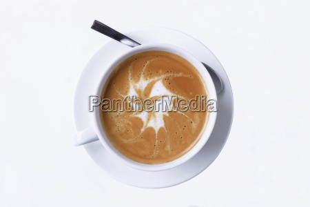 latte mit schaumkunst