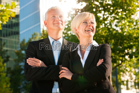 business people in a park outdoor