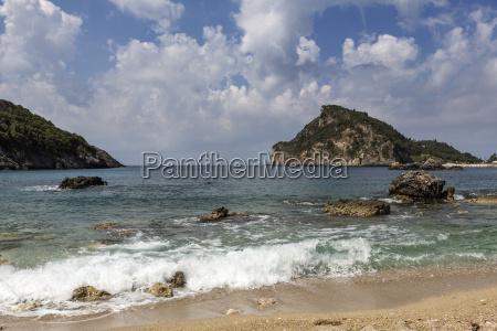 der strand von akrotiri paleokastritsa korfu
