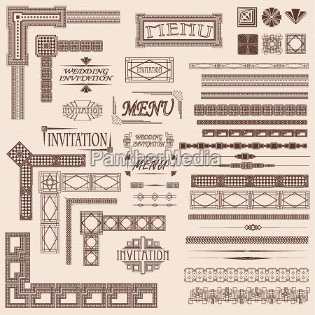deko ornamental einladung dekorativ aufforderung einzelbild