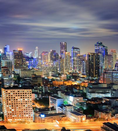 bangkok skyline der innenstadt in der