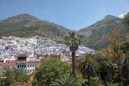 blue and white town chefchaouen in