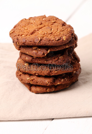 homemade outmeal brown cookies on a