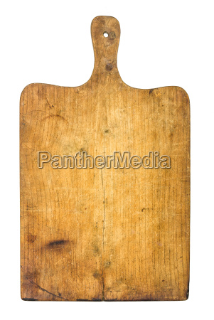 old rustic wooden chopping board