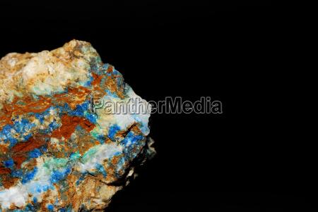 mineralien mit azurit malachit und magnsesit
