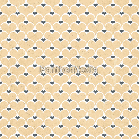retro hearts seamless background vector
