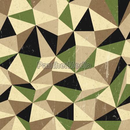 retro triangles background vector