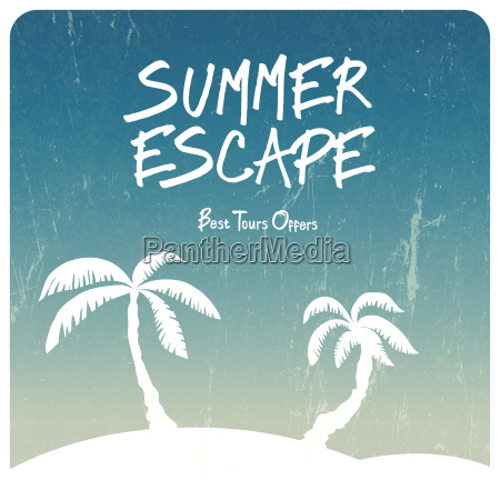 summer travel illustration vector