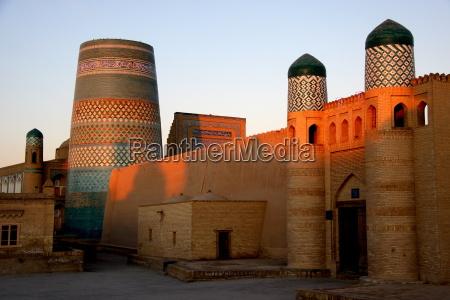 morgenstimmung in khiva usbekistan