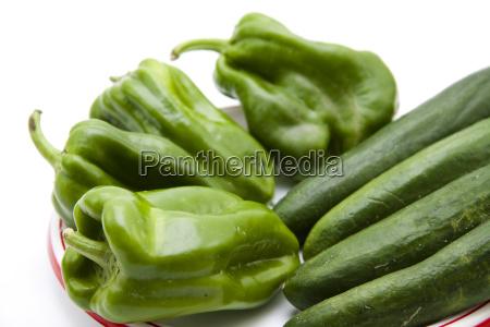 frische paprika mit gurken