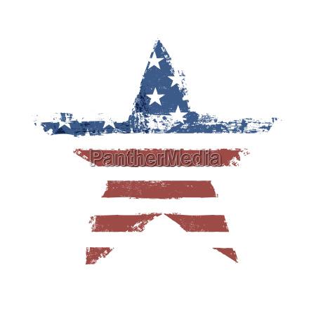 the american flag print as star