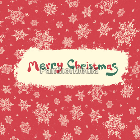 christmas retro greeting card design vector