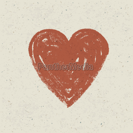 heart on paper texture vector eps10