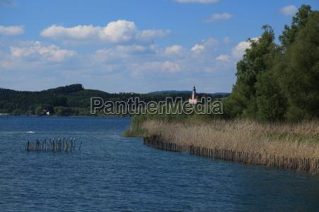 Bodensee, Binnensee, Wald, Bäume, Bayern, dunst - 9443226