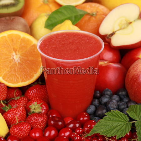 fresh red fruit juices