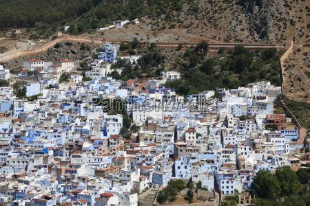 view of the colorful town chefchaouen