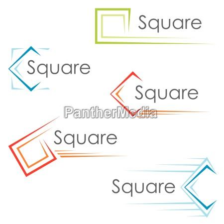 quadratische symbole