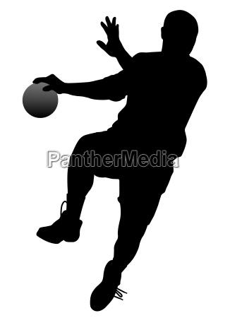 handball player vector eps