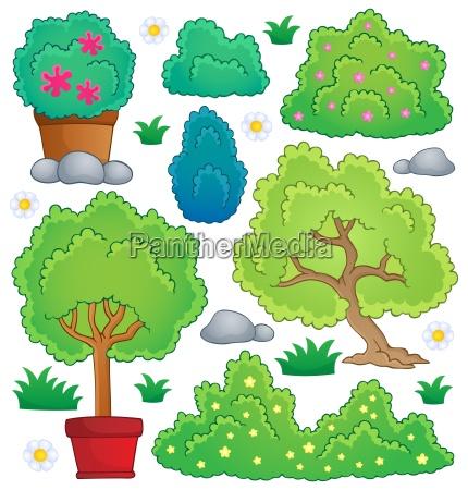 baum gebuesch busch gewaechse bepflanzt belaubt