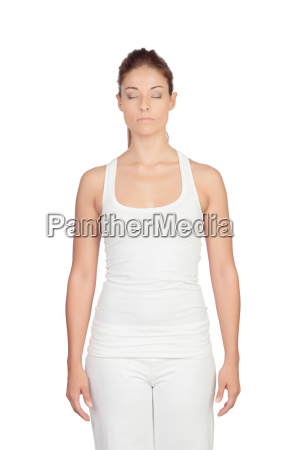 frau entspannung weiblich meditation uebung yoga