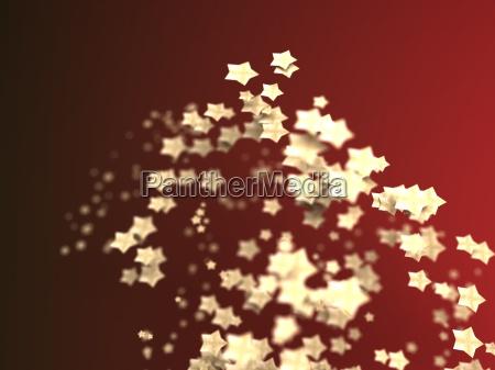glaenzende sterne partikel auf glattem hintergrund