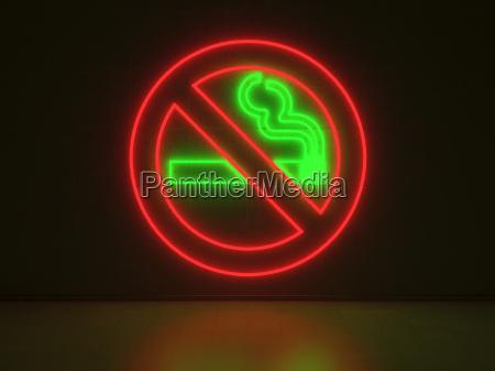 no smoking sign serie neon