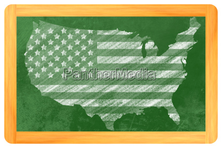 us flagge in usa form an