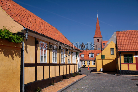 historischer stadtkern von roenne auf bornholm
