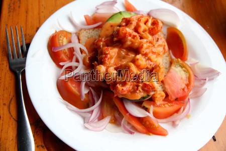 crayfish and avacado salad