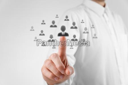 karriere hand arbeitsstelle gesellschaftlich sozial model