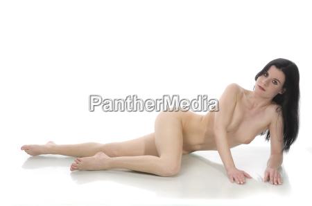 naked woman lying