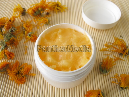 hand cream with marigold