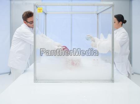 schnelle frische biologische substanz in steriler