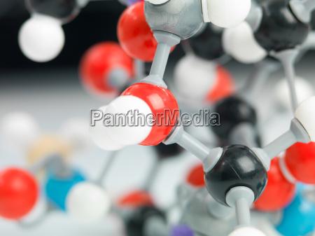 dreidimensionale darstellung der molekuelstruktur