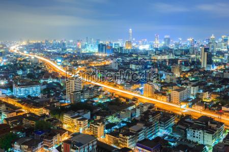 bangkok innenstadt skyline nachts